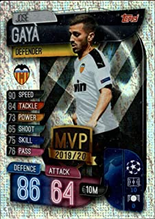 2019-20 Topps UEFA Champions League Match Attax Club MVPs #C VAL Jose Gaya VALENCIA CF Official Futbol Soccer Trading Card Game Playing Card
