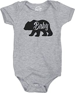 Baby Bear Funny Infant Shirts Cute Newborn Creeper for Family Bodysuit