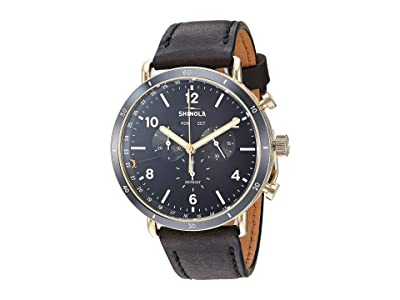 Shinola Detroit The Canfield Sport Chronograph Calendar 20109248 (Black/Black/Gold Physical Vapor Deposit) Watches