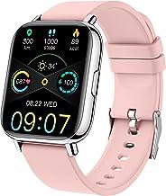 """ساعت هوشمند برای زنان ، ساعت هوشمند برای اندروید iPhone Fitness Tracker 1.69 """"صفحه نمایش لمسی تناسب اندام ساعت IP68 ضد آب فعالیت ردیاب ضربان قلب پدومتر ساعت مچی مانیتور کالری خواب"""