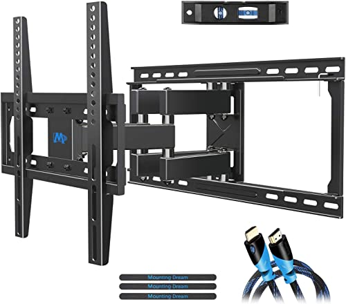 TV Wall Mount Bracket with Full Motion Articulating Arms for Most 26-55'' LED, LCD, OLED and Plasma TVs up to VESA 40...