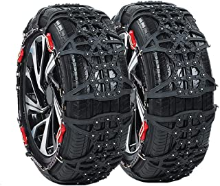 Portable Emergency Traction Car Snow Tire Anti-ski Silknet Snow Socks -Emergency Traction for Tyres - Universal to Fit 145/70R12, 155/R12 ,Black for TPU Vans and Light Trucks Universal Fit Tyre R