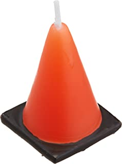 BirthdayExpress Construction Cone Molded Candles (6)