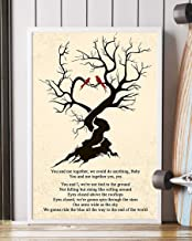 Mattata You and Me Lyrics Portrait Poster Print (16