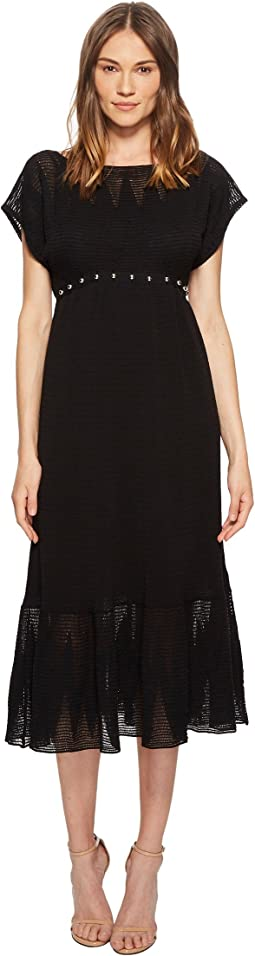 RED VALENTINO - Zagana Embroidery Knit Dress with Boules