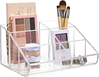 STORi Clear Plastic 6-Compartment Vanity Makeup Organizer