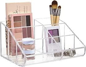 STORi Clear Plastic 6-Compartment Vanity Makeup Organizer