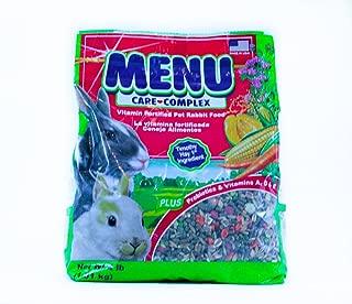 Menu Care Complex Vitamin Fortified Pet Rabbit Food, 4 lb