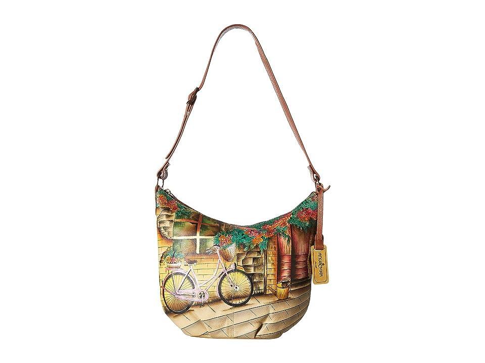 Anuschka Handbags 471 Medium Bucket Hobo (Vintage Bike) Handbags 338070db23