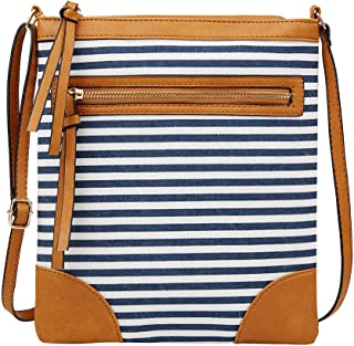 Ultramall New Fashion Women's Solid Color Bag Business Wild Small Square Stripe Zipper Package Shoulder Bag For Women