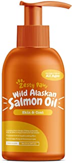 Zesty Paws Pure Wild Alaskan Salmon Oil for Dogs & Cats - Supports Joint Function, Immune & Heart Health - Omega 3 Liquid Food Supplement for Pets - All Natural EPA + DHA Fatty Acids for Skin & Coat