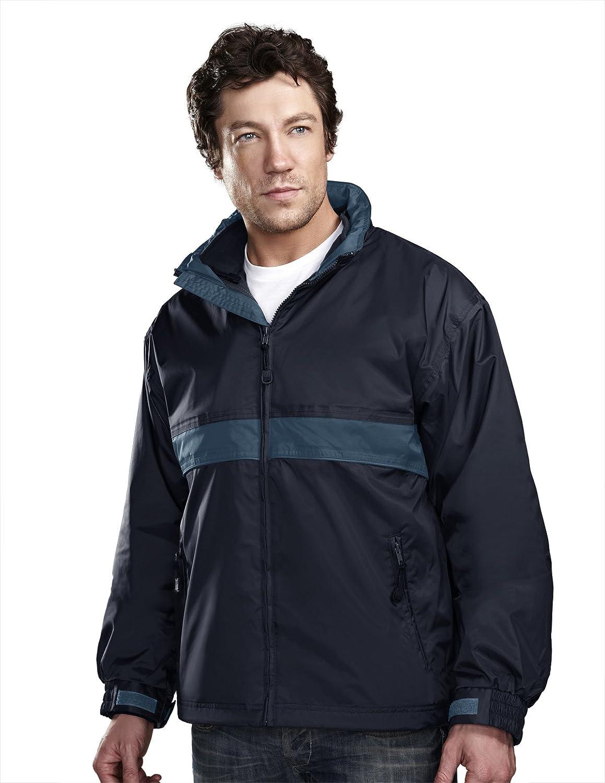 Tri-mountain Mens waterproof nylon 3-in-1 jacket. - NAVY / MOUNTAIN BLUE - Small