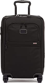 Alpha 3 International Office 4 Wheeled Carry-on Luggage - 22 Inch Rolling Suitcase for Men and Women - Black