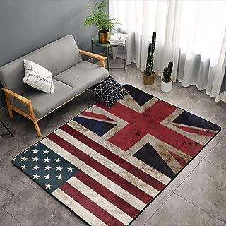 Bedroom Living Room Kitchen King Size Area Rug Home Decor - USA UK Flag Floor Mat Doormats Quick Dry Bath Mat Yoga Mat Throw Rugs Runner (60 x 39 Inch)