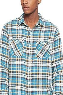 b38bf02c3 RALPH LAUREN Denim   Supply Men s Ward Plaid Twill Shirt Blue