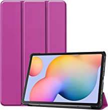 DOHUI for Samsung Galaxy Tab S6 Lite Case, Ultra Slim Lightweight PU Leather Cover Case with Stand for Samsung Galaxy Tab S6 Lite Tablet (Purple)