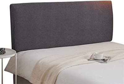 Bed Headboards Cover Grey Headboard Slipcover Stretch Head Protector 200cm