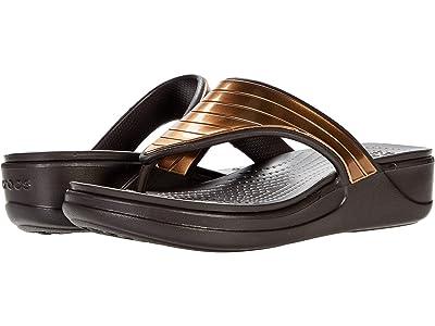 Crocs Monterey Metallic Strap Wedge Flip
