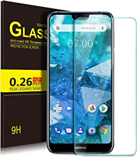 KuGi Nokia 7.1 Screen Protector, 9H Hardness HD clear Bubble Free Installation High Responsivity Easy Installation Tempere...