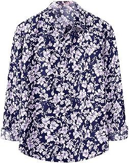 Zimaes Men Long Sleeve Loose-Fit Hipster Plus-size Botton Front Work Shirt
