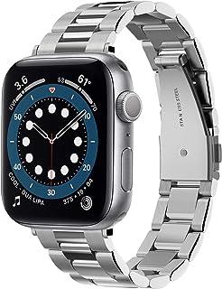 Spigen Modern Fit pasek zamienny kompatybilny z Apple Watch 40 mm/38 mm, stal szlachetna pasek do zegarka iWatch Series 5/...