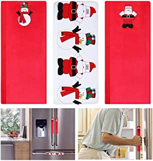 LUOEM 3PCS Christmas Kitchen Appliance Handle Covers Refrigerator Door Decoration Novelties Haunted House