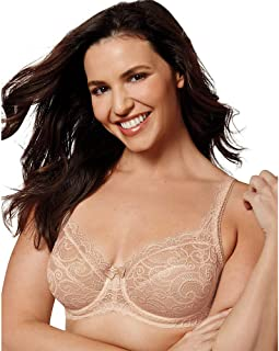 Women's Love My Curves Beautiful Lace and Lift Underwire Full Coverage Bra #4825