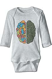 Efbj Toddler Baby Girls Rompers Sleeveless Cotton Onesie,Brain Bodysuit Autumn Pajamas