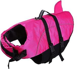 Large Dog Life Jacket ,Dogs Life Vests For Swimming Extra Large,Puppy Float Coat Swimsuits Flotation Device Life Preserver Belt Lifesaver Flotation Suit For Pet Bulldog Lab With Reflective Strap