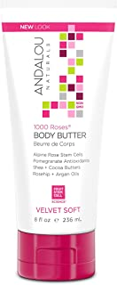 Andalou Naturals 1000 Roses Velvet Soft Body Butter, 8 Ounces