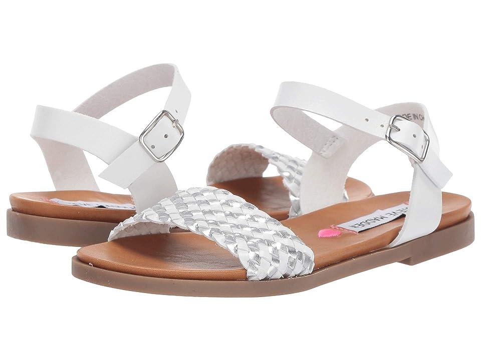 Steve Madden Kids Jrevel (Little Kid/Big Kid) (White/Silver) Girls Shoes