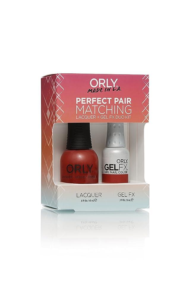 十代の若者たちに話す君主制Orly Lacquer + Gel FX - Perfect Pair Matching DUO Kit - Haute Red