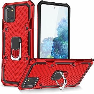 Lijc Kompatibel med Samsung Galaxy Note 10 Lite/A81 Fodral [Skärmskydd] 360 Roterande Ringhållare Militärklass Omslag med ...