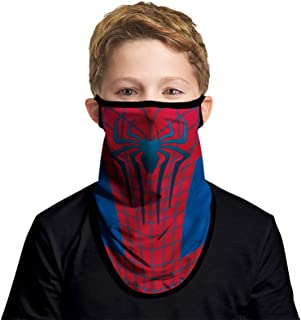 JOEYOUNG Kids Face Mask Bandanas with Ear Loops Neck Gaiter Skull Mask UV Sun Mask Dust Half Face Mask for Cycling, 4-13 Y...