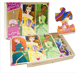 5 Pack of Assorted Princess Puzzles