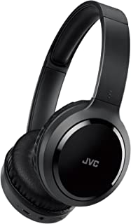 JVC HA-S78BN ノイズキャンセリングヘッドホン Bluetooth 連続16時間再生 軽量設計 有線接続対応 ハンズフリー通話用マイク内蔵 折りたたみ式 テレワーク・テレビ会議向け ブラック