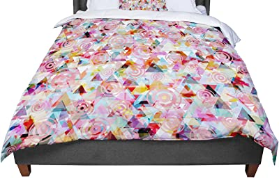 KESS InHouse Suzanne Carter Pattern Multicolor Abstract Queen Comforter 88 X 88
