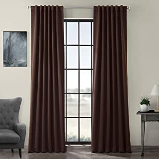 HPD HALF PRICE DRAPES BOCH-191016-120 Blackout Room Darkening Curtain, 50 X 120, Java