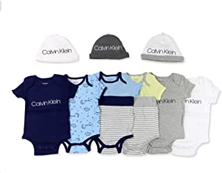 طقم هدايا لحفل استقبال المولود الجديد من لاييت، مجموعة من 9 او 15 قطعة من ملابس المولود الجديد من كالفن كلاين