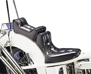 Le Pera Signature II Seat with Pillion Pad for Harley Rigid Frames (Standard) (Black)