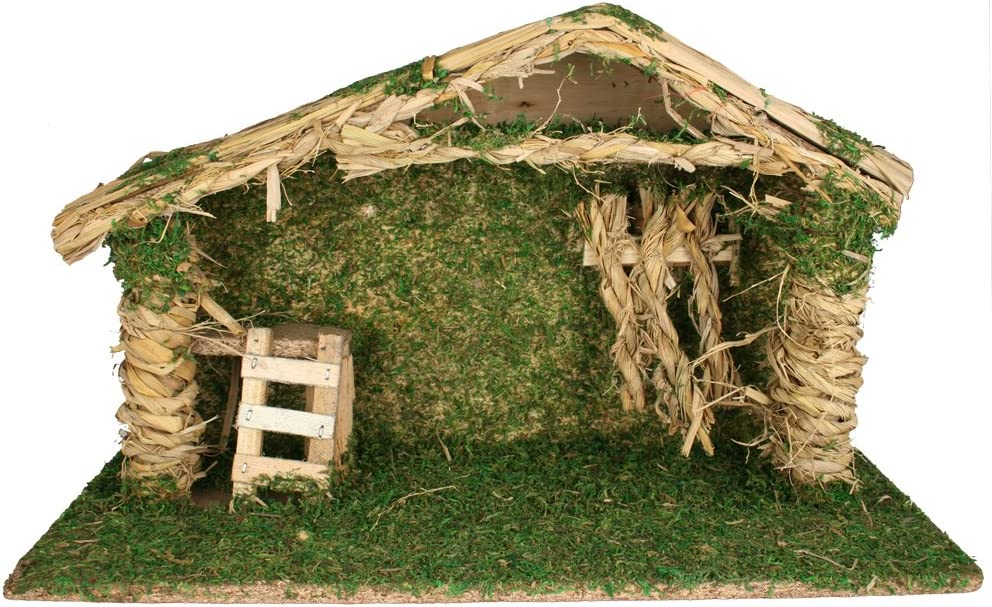 BANBERRY DESIGNS Nativity Crèche with Wood 9- Moss Accents Free 2021 shipping New and –