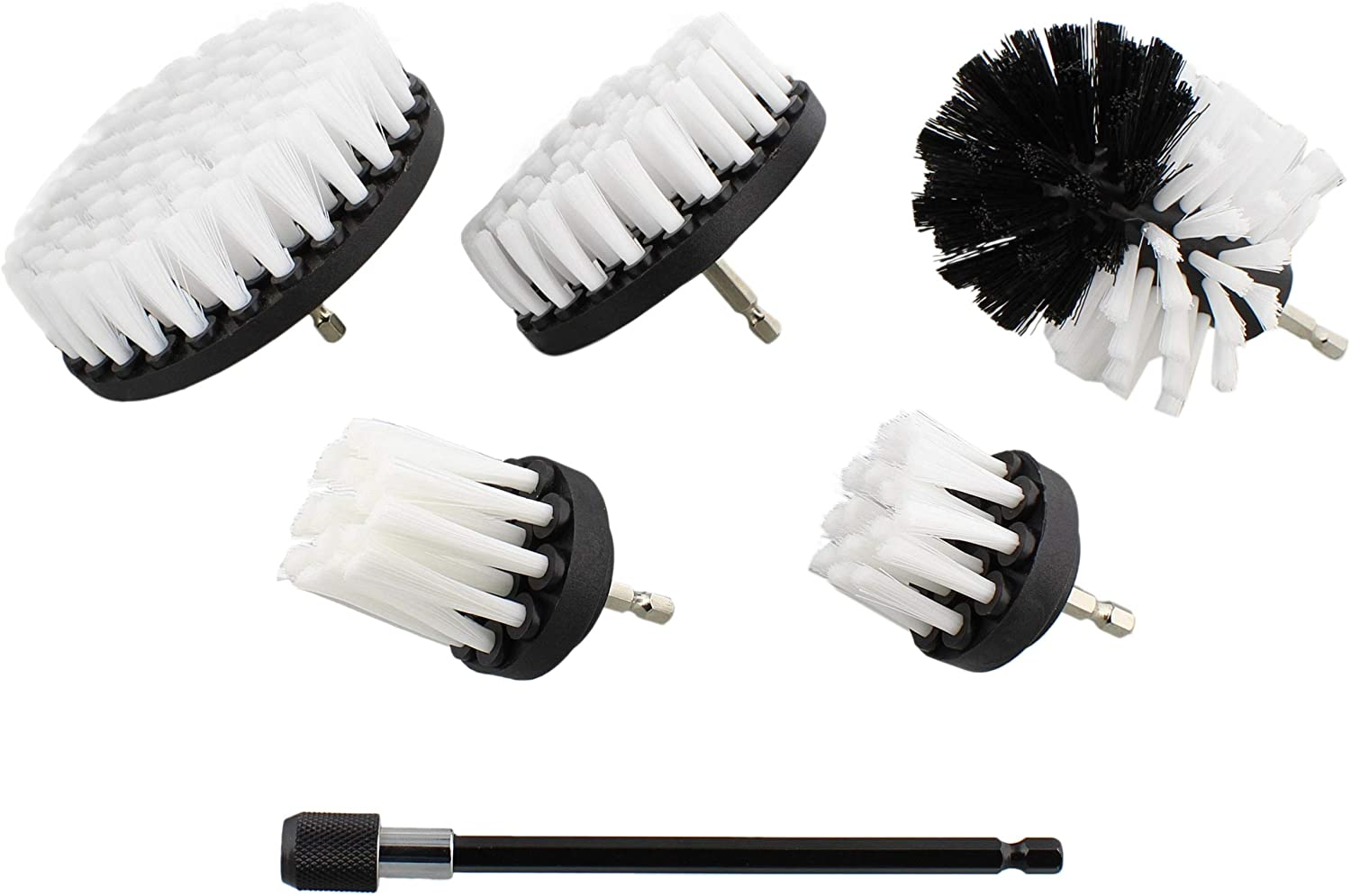 ABN Kansas City Mall 1 4in Drive Nylon Deluxe Scrubber Cleaning Attachment 5 Brush Drill
