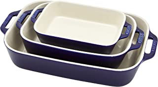 Staub Ceramic Baking Dish Set, 3pc, Dark Blue