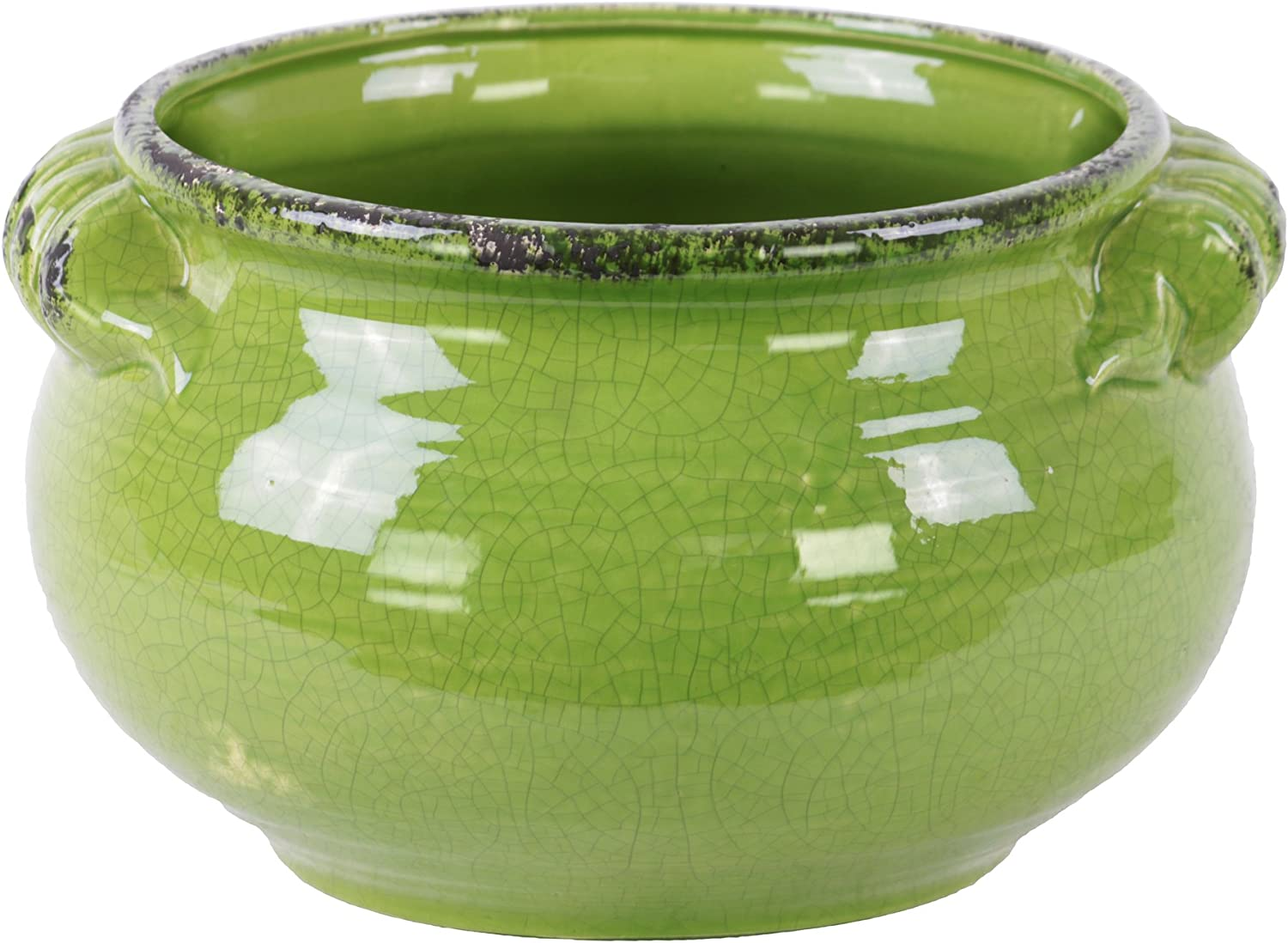 Urban Trends 31827 Ceramic Wide Round Bellied Ranking Max 51% OFF TOP7 with Ha Pot Tuscan