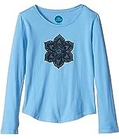 Primal Flower Smiling Smooth T-Shirt Long Sleeve (Little Kids/Big Kids)