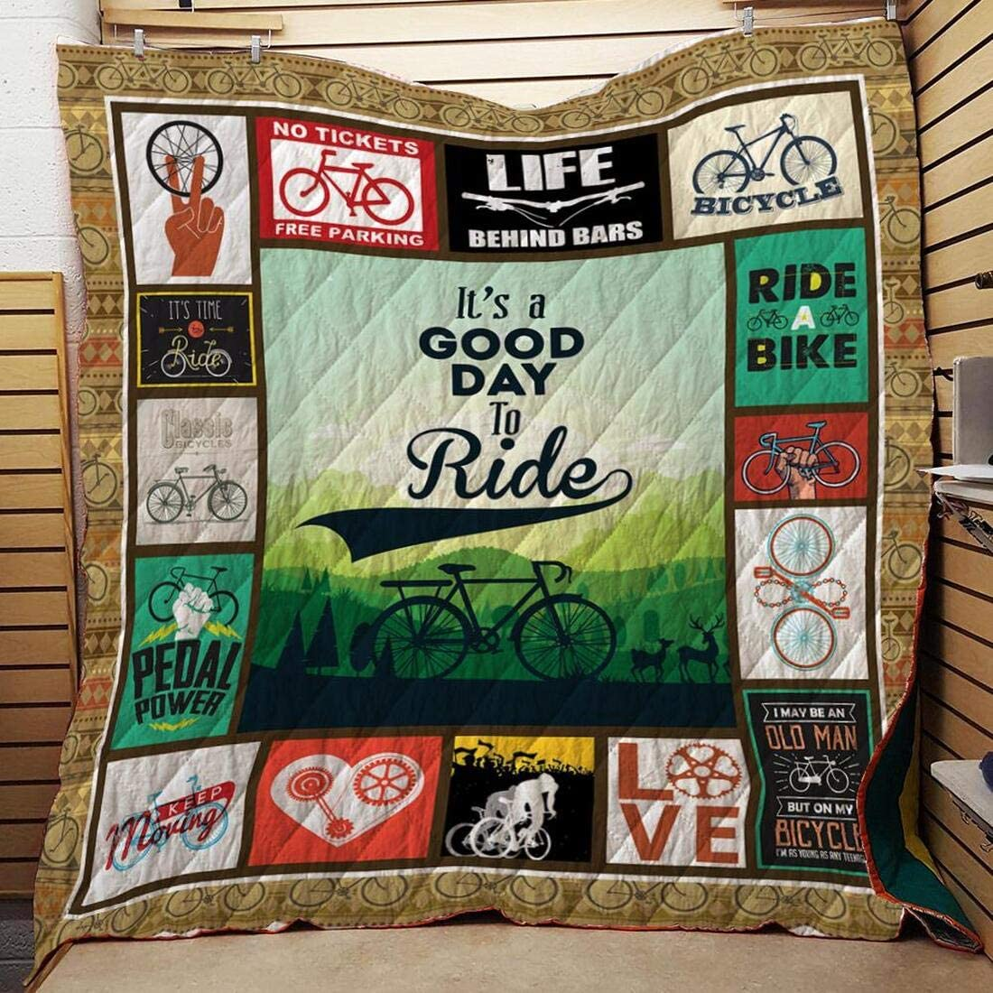 Personalized Max 40% Elegant OFF Cycling Life Behind Bars Quilt Your Gift for Lover