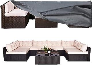 fundas resistentes al viento Fundas para muebles de jard/ín impermeables 60x60x60cm para mesa de comedor duraderas de tela Oxford para protecci/ón de patio 2 colores fundas para muebles de patio