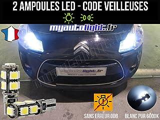 Pack lamparillas LED de color blanco Xenon para Citroen C3 II