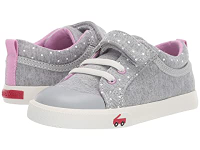 See Kai Run Kids Kristin (Toddler/Little Kid) (Gray/Purple Jersey) Girls Shoes