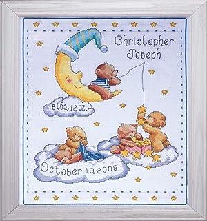 "Tobin Heavenly Bears Sampler, 8 x 10 Cross Stitch Kit, 11""x14"" 14 Count"